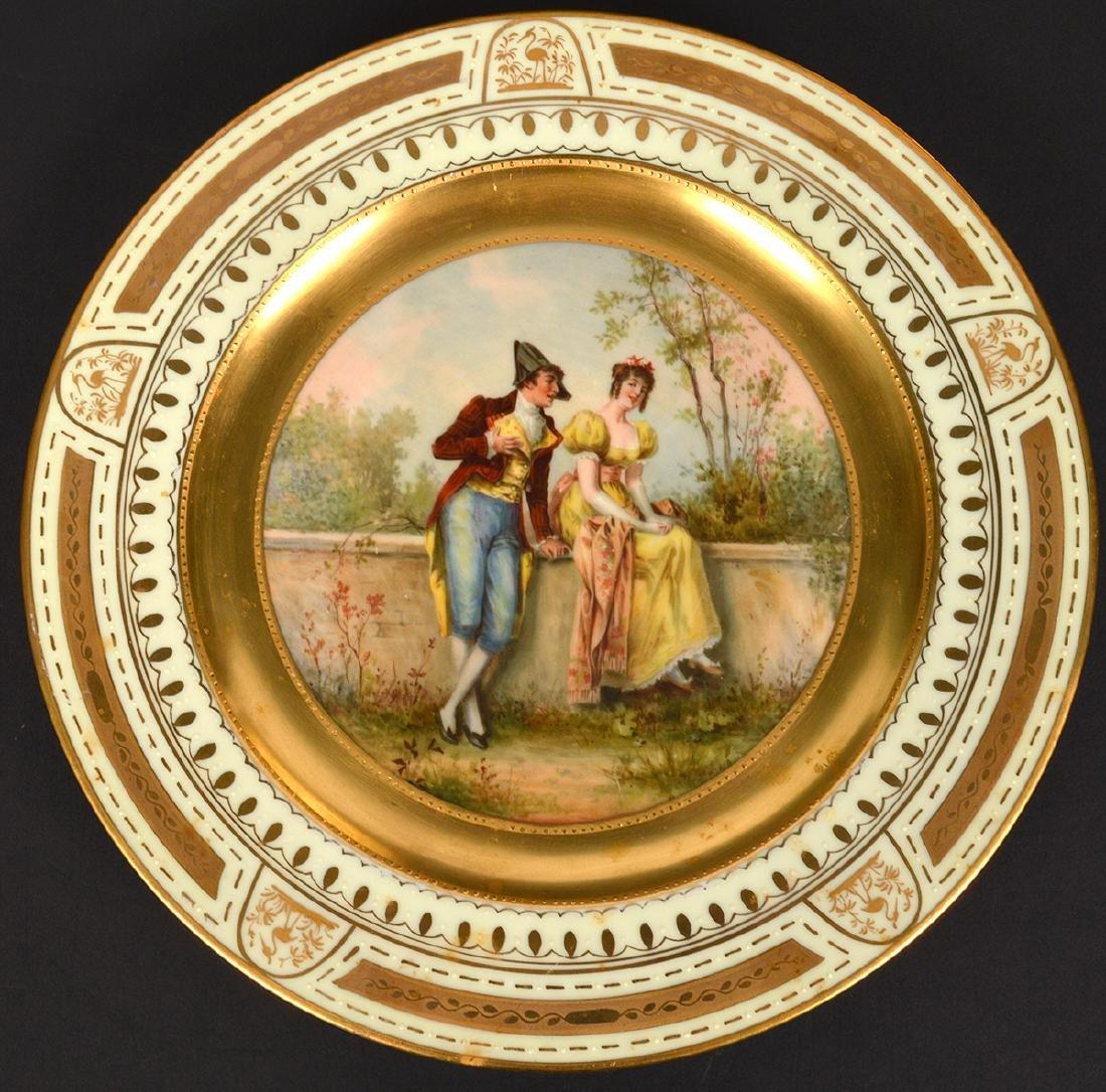 Set of 6 Signed Royal Vienna Plates - 12