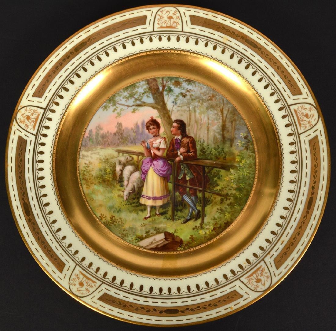 Set of 6 Signed Royal Vienna Plates - 15