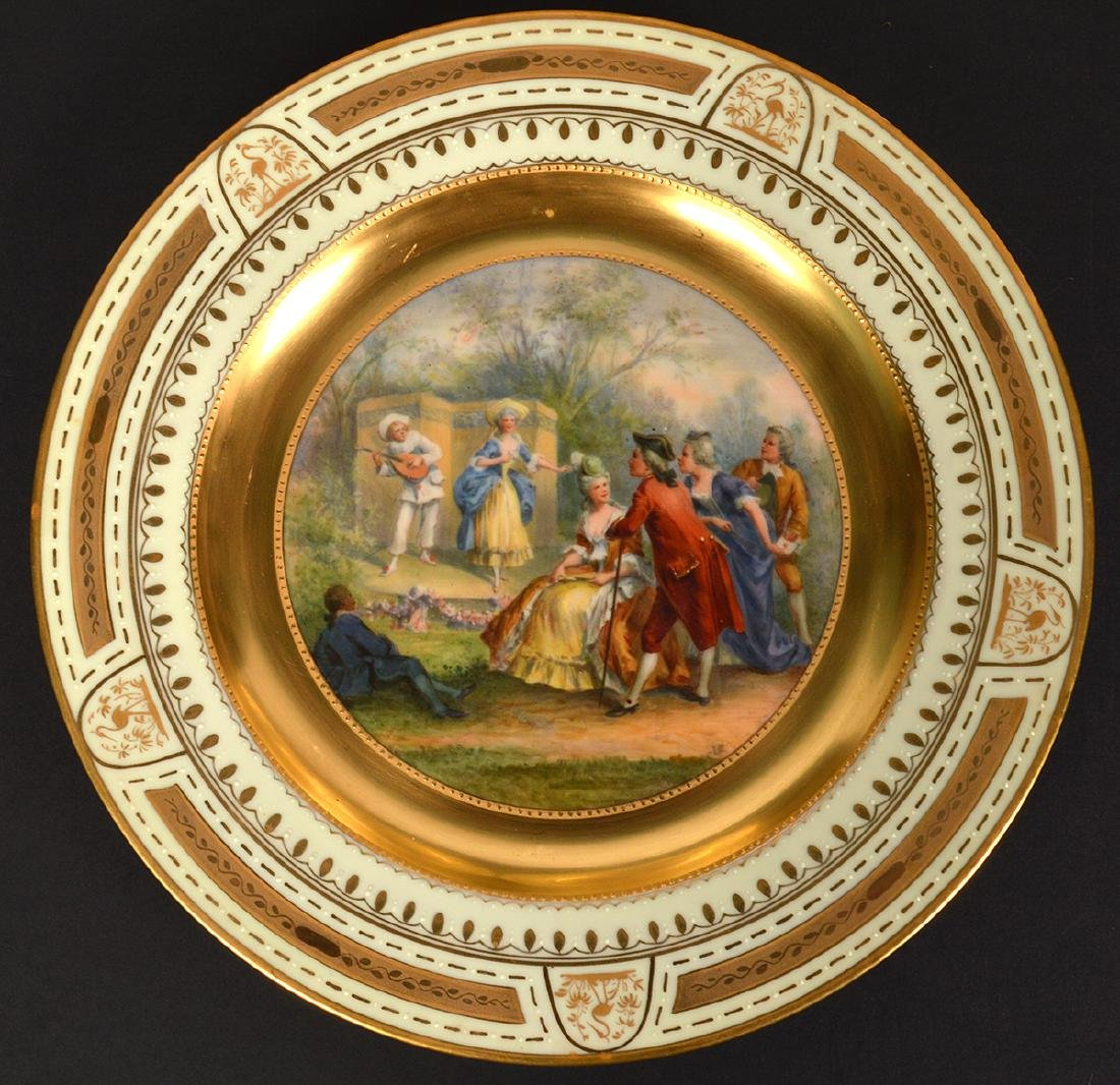 Set of 6 Signed Royal Vienna Plates - 4