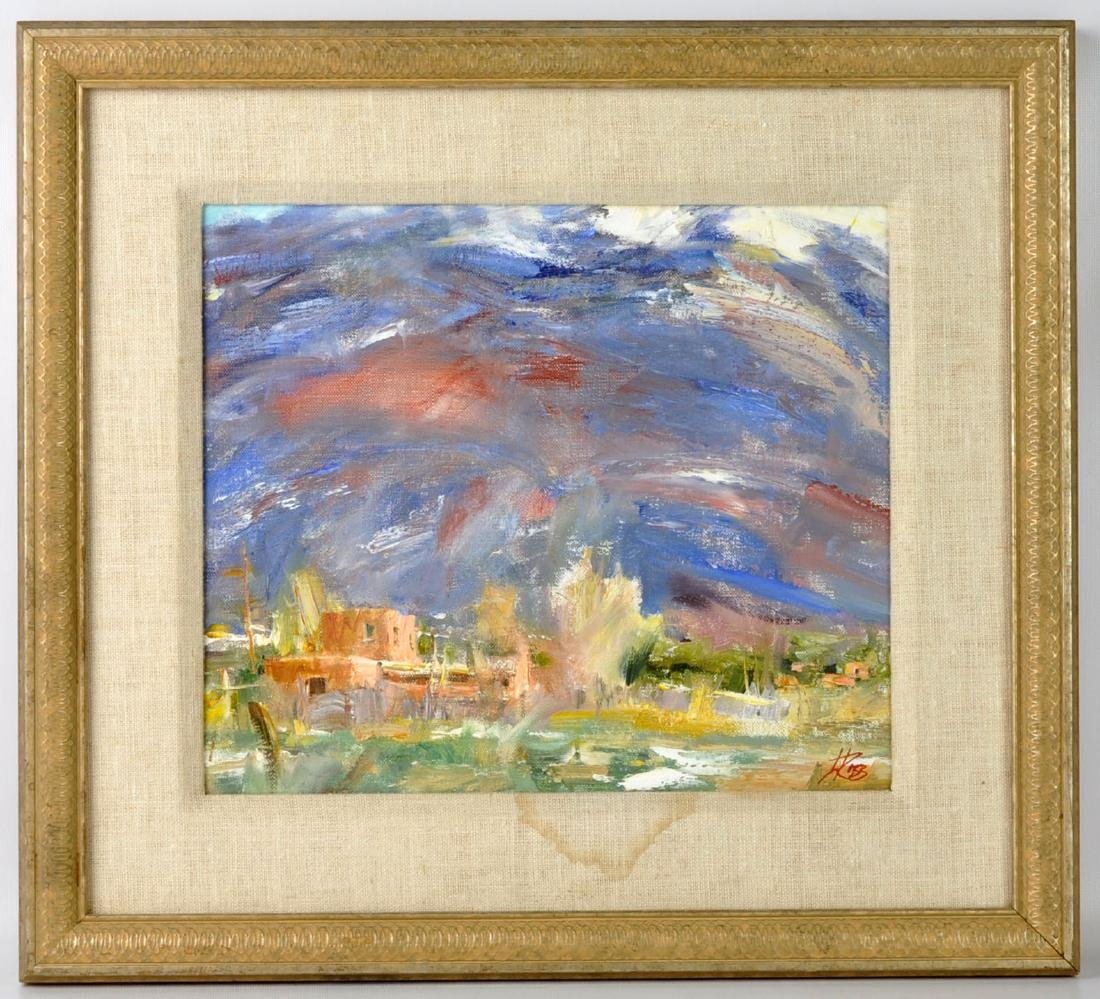 "Laura Robb ""Pueblo Land"" Oil on Canvas Painting - 2"
