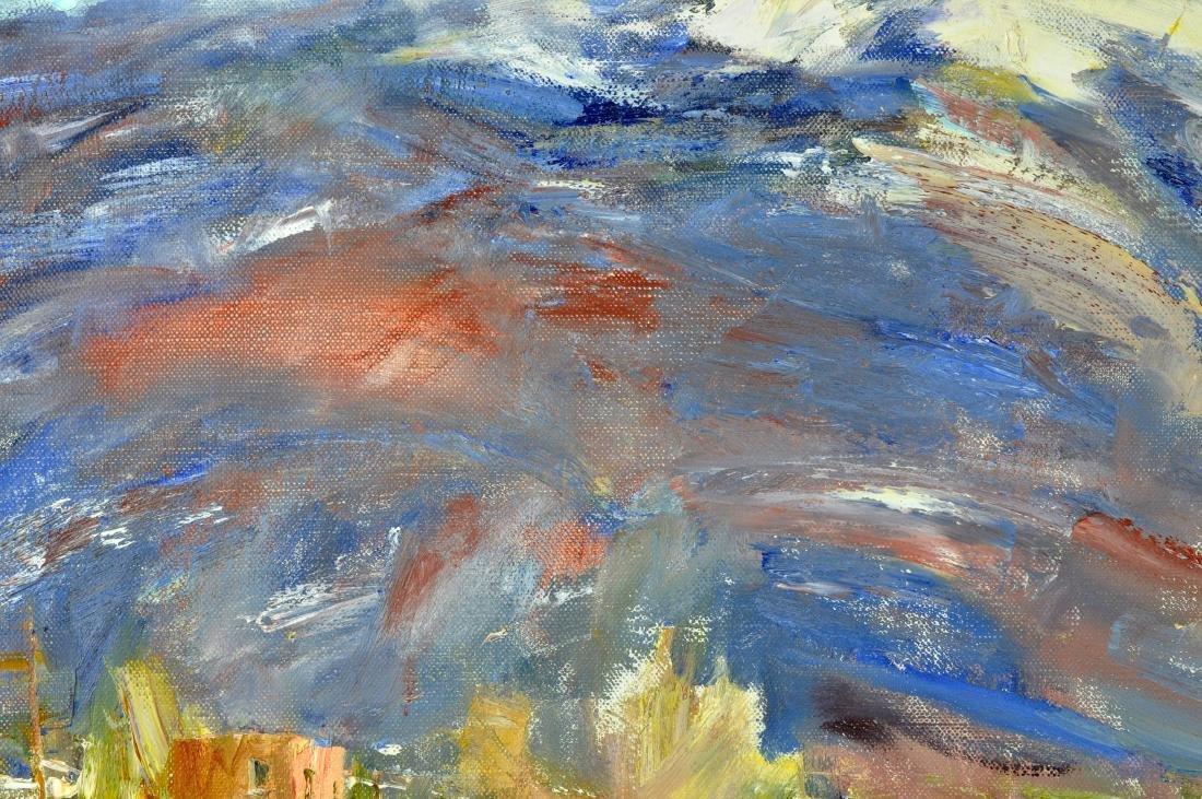 "Laura Robb ""Pueblo Land"" Oil on Canvas Painting - 3"
