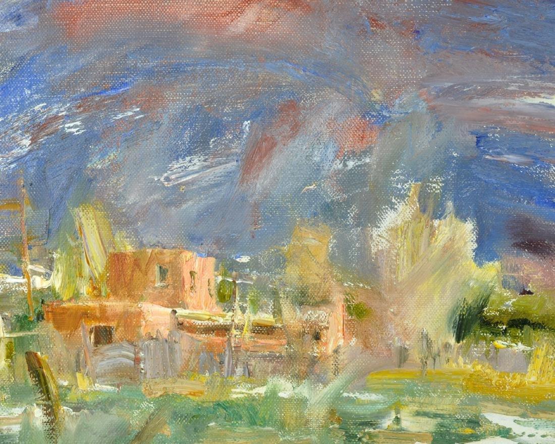 "Laura Robb ""Pueblo Land"" Oil on Canvas Painting - 4"