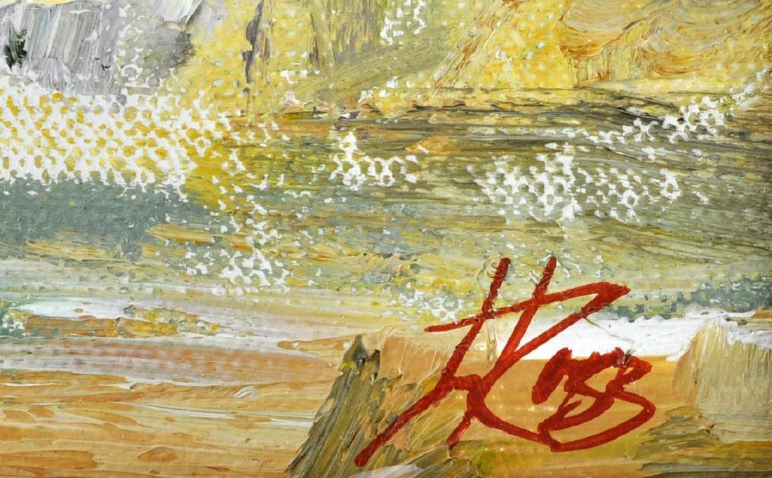 "Laura Robb ""Pueblo Land"" Oil on Canvas Painting - 6"