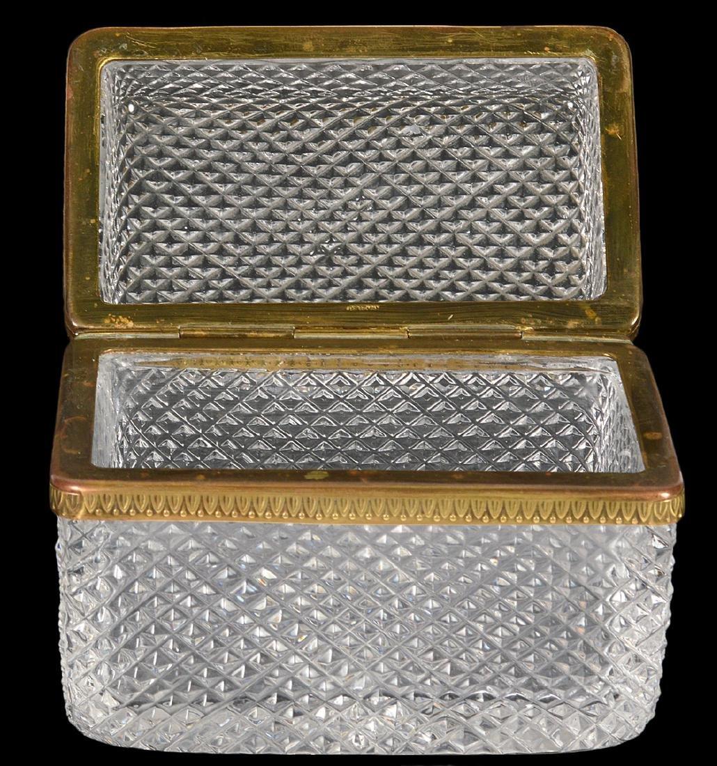 Diamond Cut Crystal Box - 2