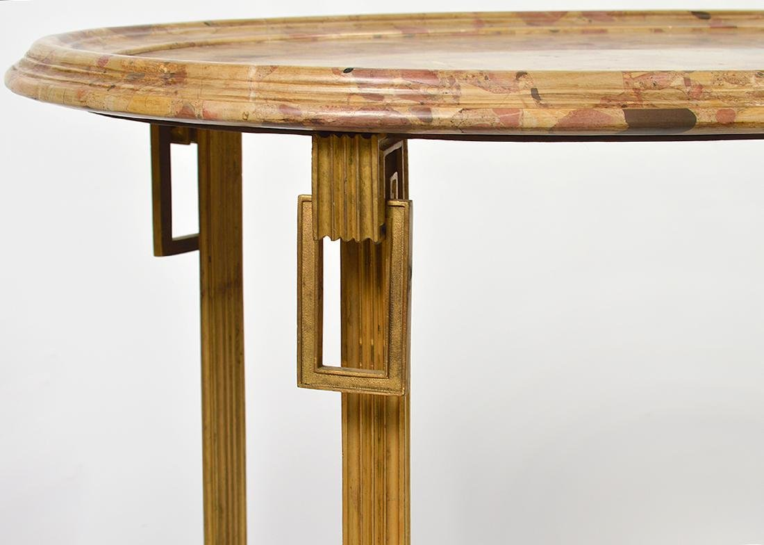 Pr. 19/20th C. French Gilded Marble Top Tables - 2