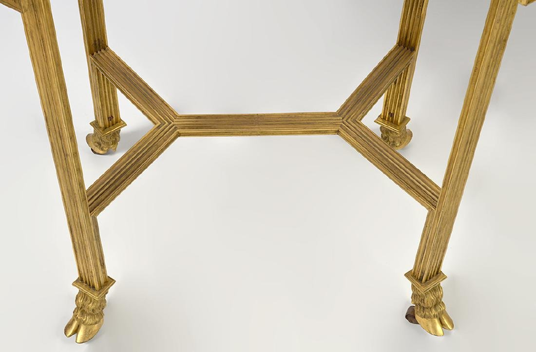 Pr. 19/20th C. French Gilded Marble Top Tables - 3