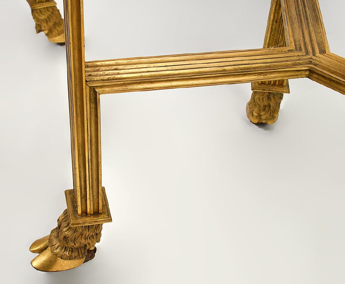 Pr. 19/20th C. French Gilded Marble Top Tables - 6