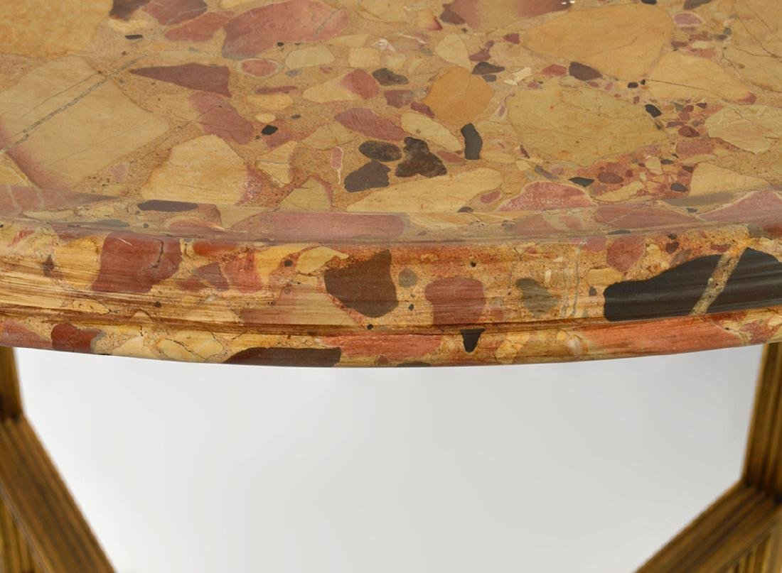Pr. 19/20th C. French Gilded Marble Top Tables - 7