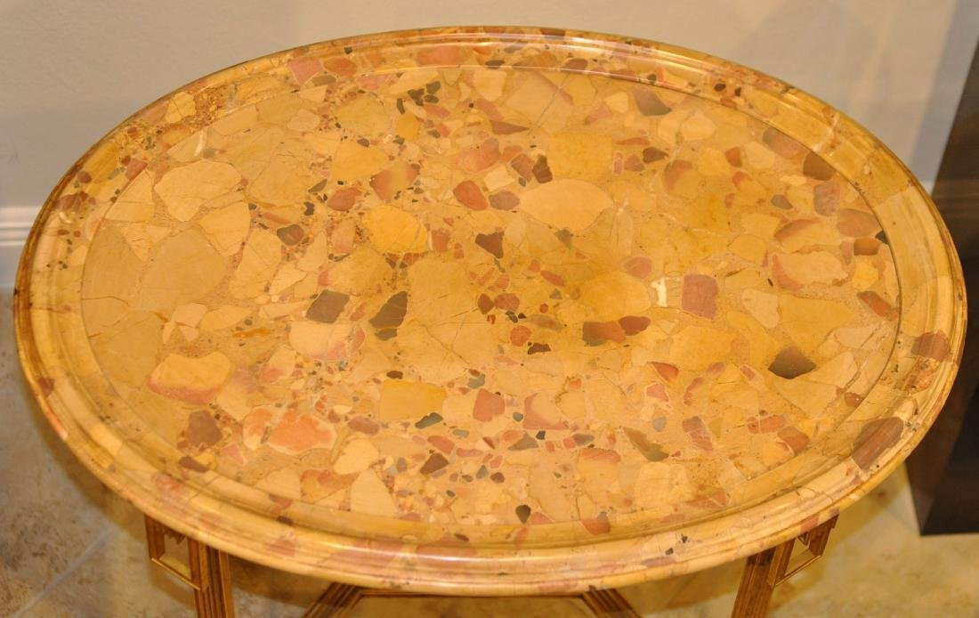 Pr. 19/20th C. French Gilded Marble Top Tables - 8
