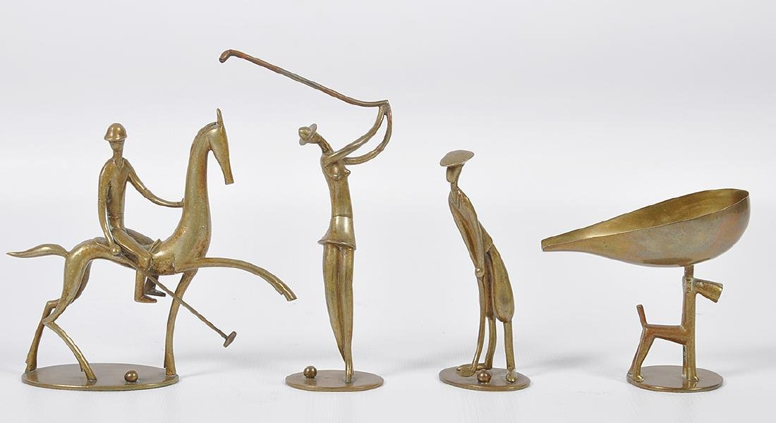 4 Hagenauer Art Deco Sporting Figures
