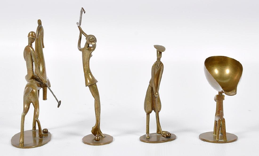 4 Hagenauer Art Deco Sporting Figures - 3