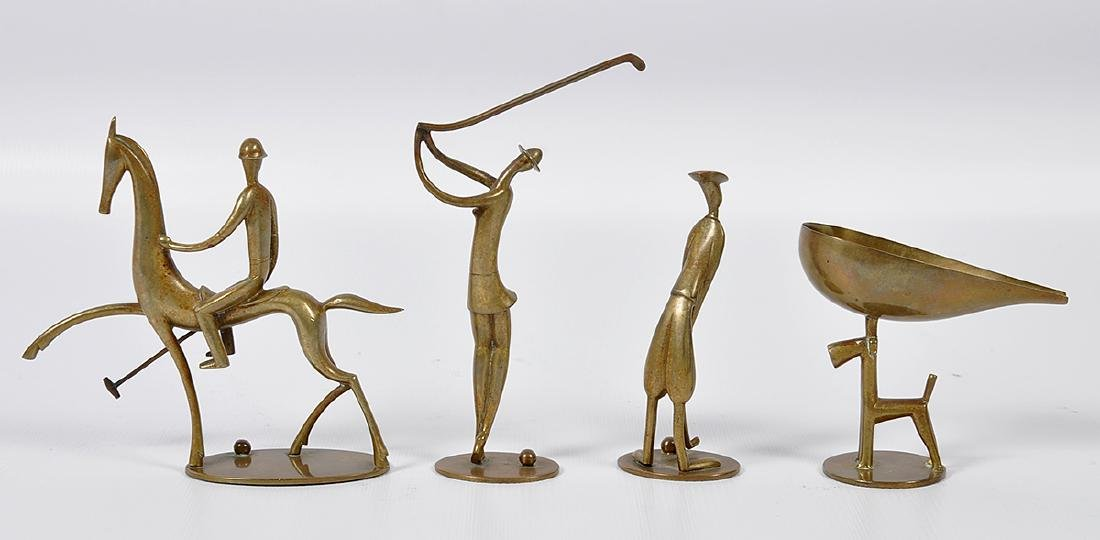 4 Hagenauer Art Deco Sporting Figures - 4