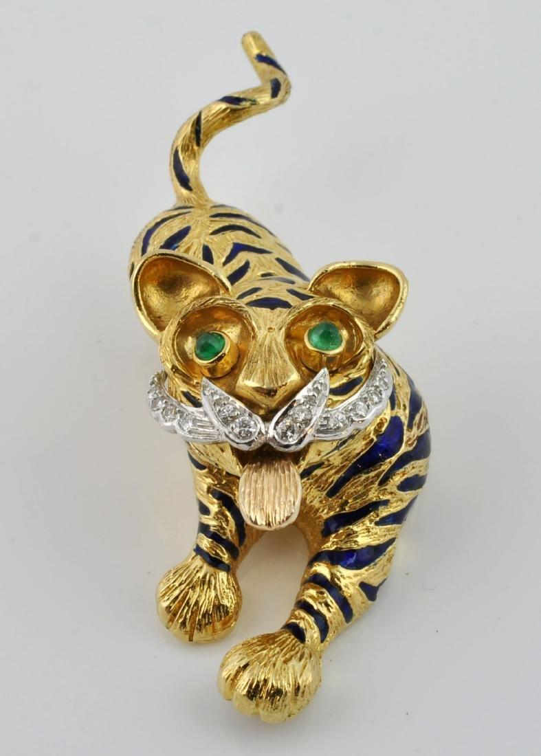 Kutchinsky Diamond, Emerald & 18kt Gold Pendant