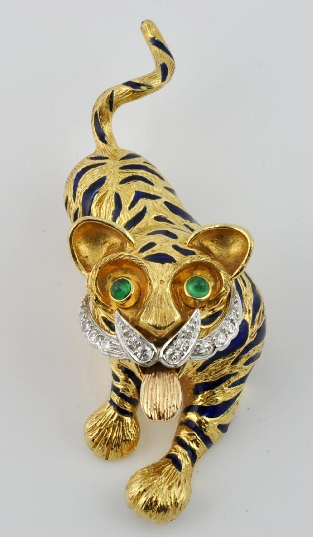 Kutchinsky Diamond, Emerald & 18kt Gold Pendant - 2