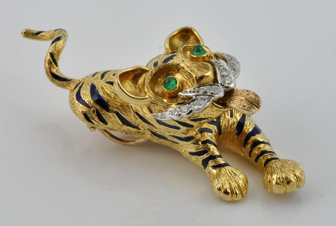 Kutchinsky Diamond, Emerald & 18kt Gold Pendant - 3