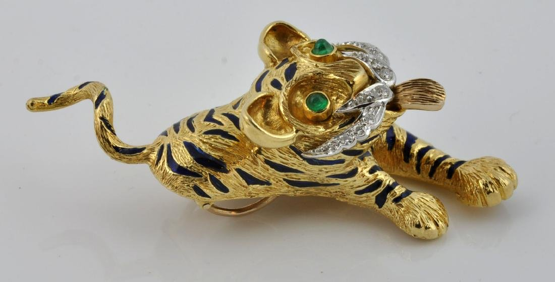 Kutchinsky Diamond, Emerald & 18kt Gold Pendant - 5