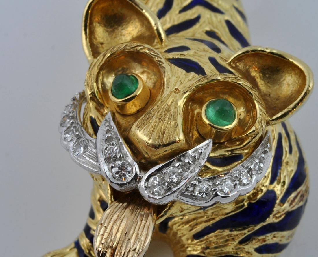 Kutchinsky Diamond, Emerald & 18kt Gold Pendant - 8