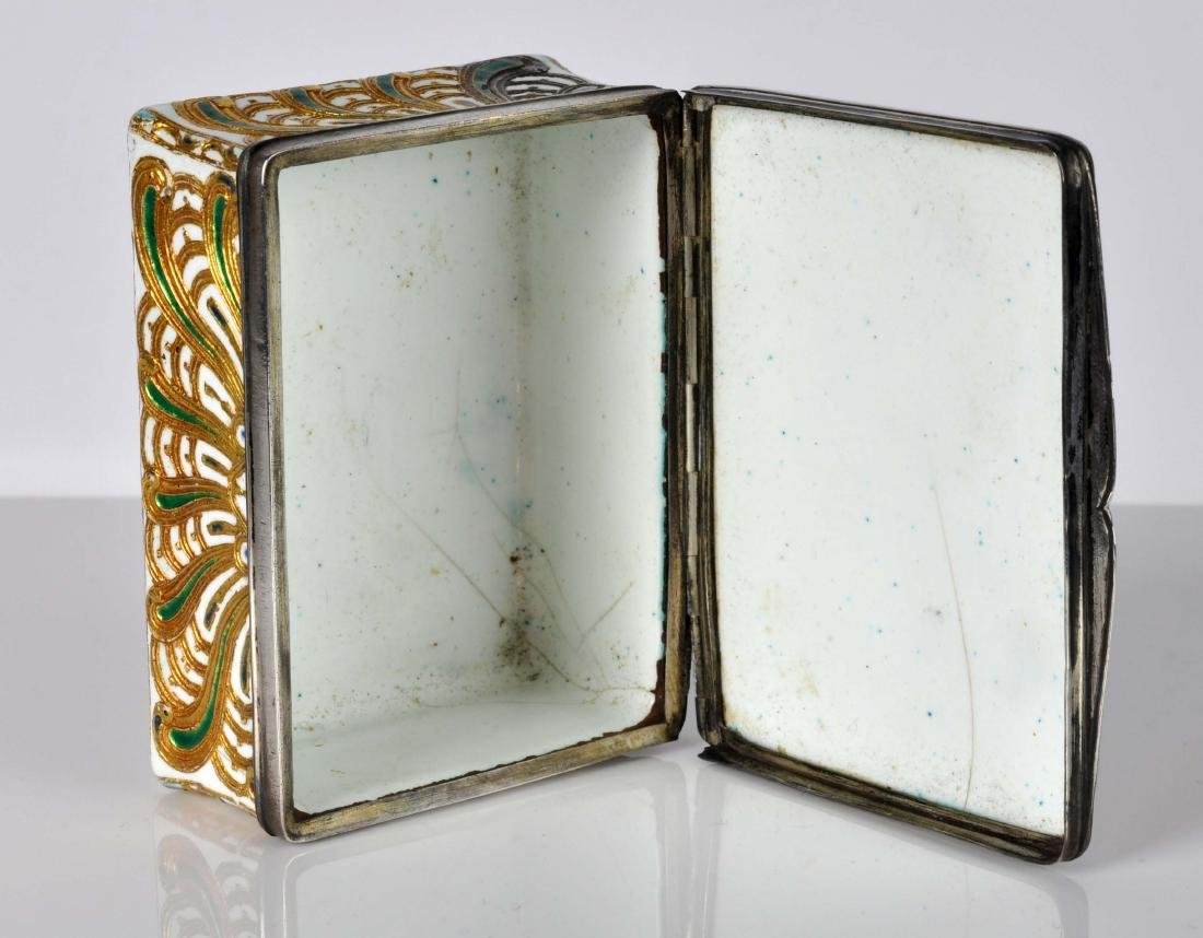 French Silver, Enamel & Gilt Trinket Box - 9