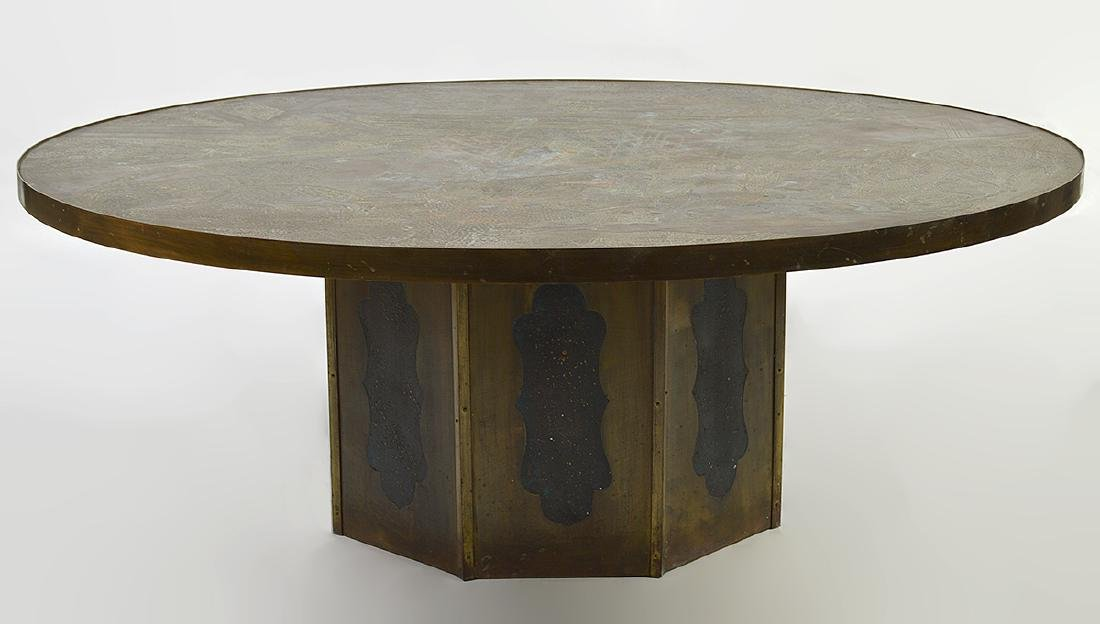 """Philip & Kevin Laverne Bronze """"Chan"""" Coffee Table"""