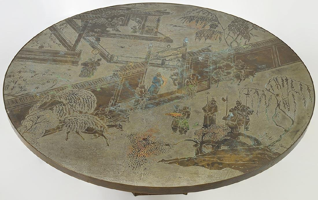 """Philip & Kevin Laverne Bronze """"Chan"""" Coffee Table - 2"""