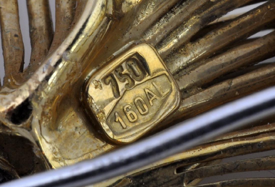 18kt Gold, Diamond &Turquoise Dancer Brooch - 8