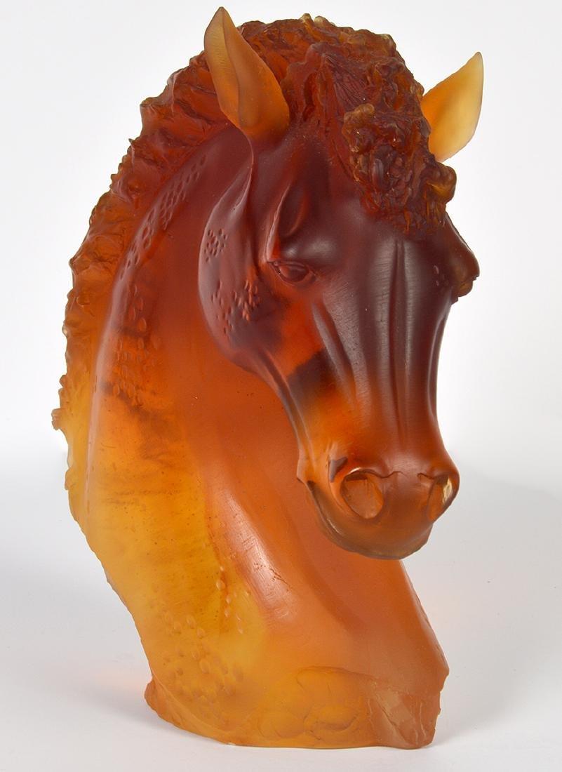 """Daum Amber """"Andalusian"""" Horse Head - 5"""