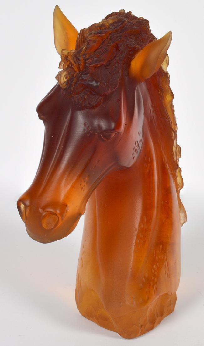 """Daum Amber """"Andalusian"""" Horse Head - 6"""