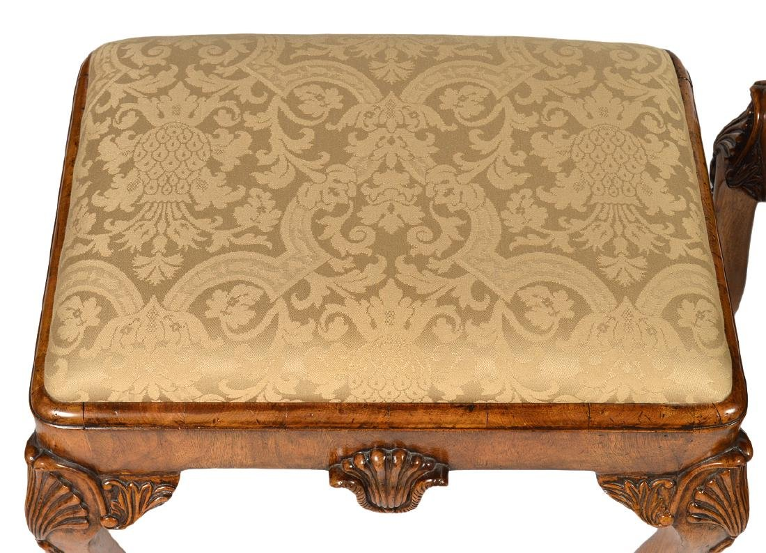 Pr. English Cabinet Made Chippendale Style Benches - 3