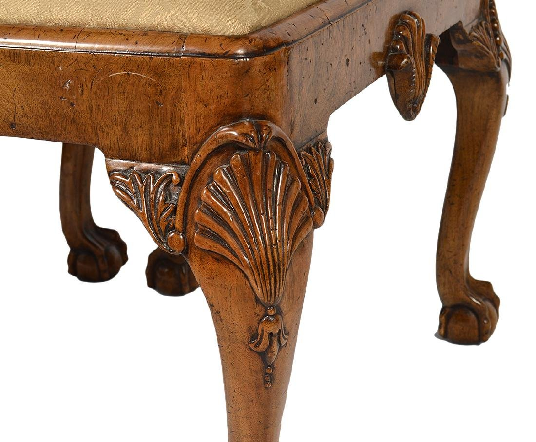 Pr. English Cabinet Made Chippendale Style Benches - 5