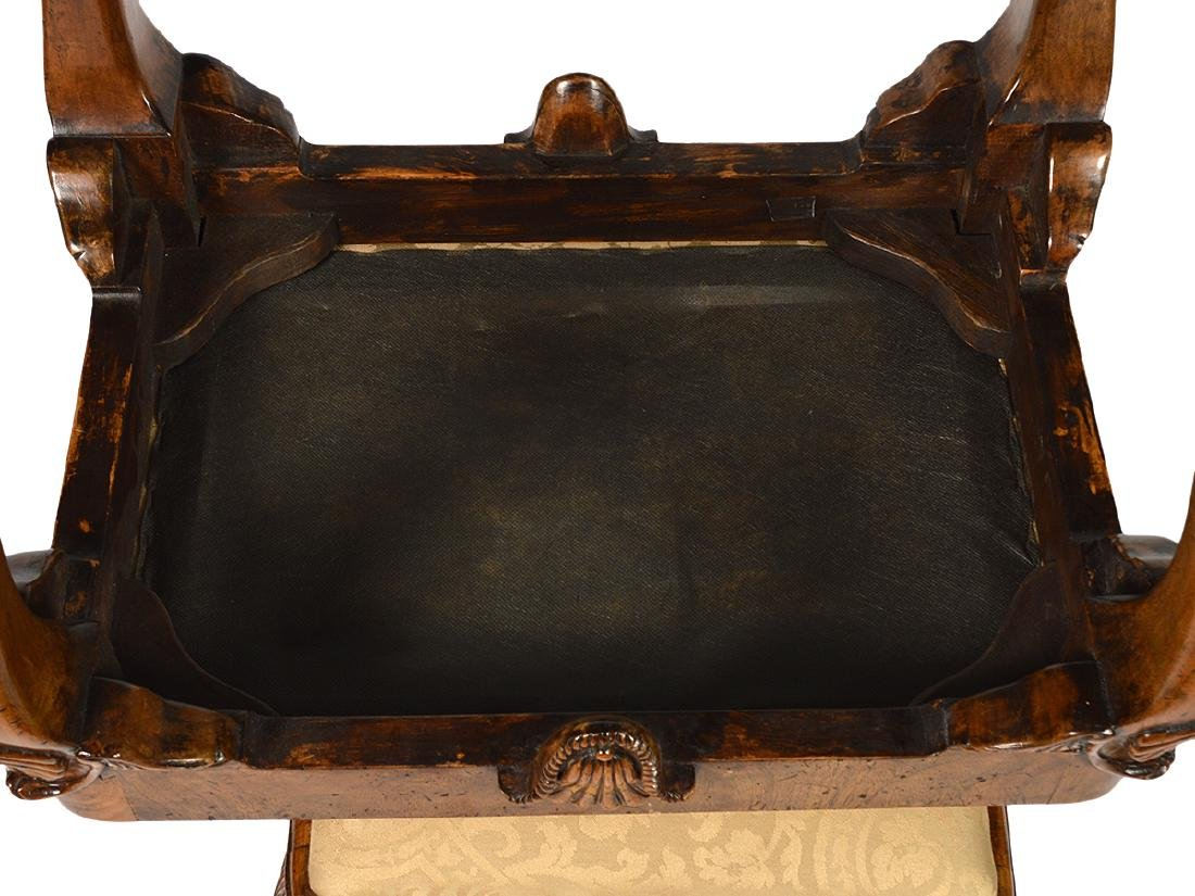 Pr. English Cabinet Made Chippendale Style Benches - 8