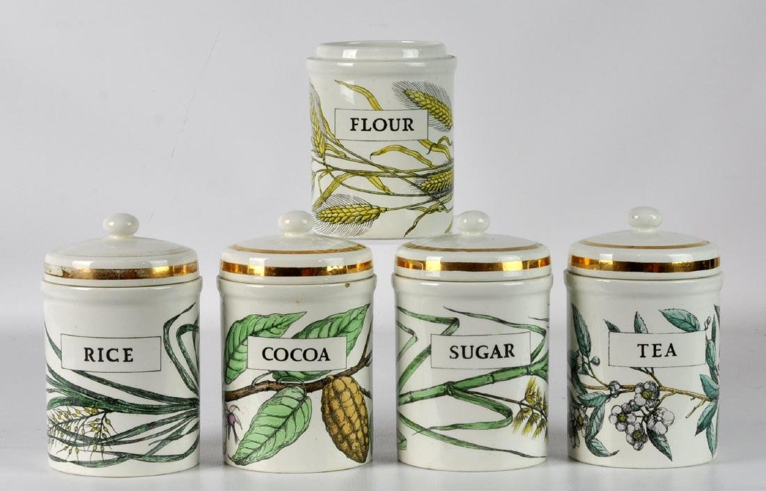 5 Piero Fornasetti Italy Lidded Jars