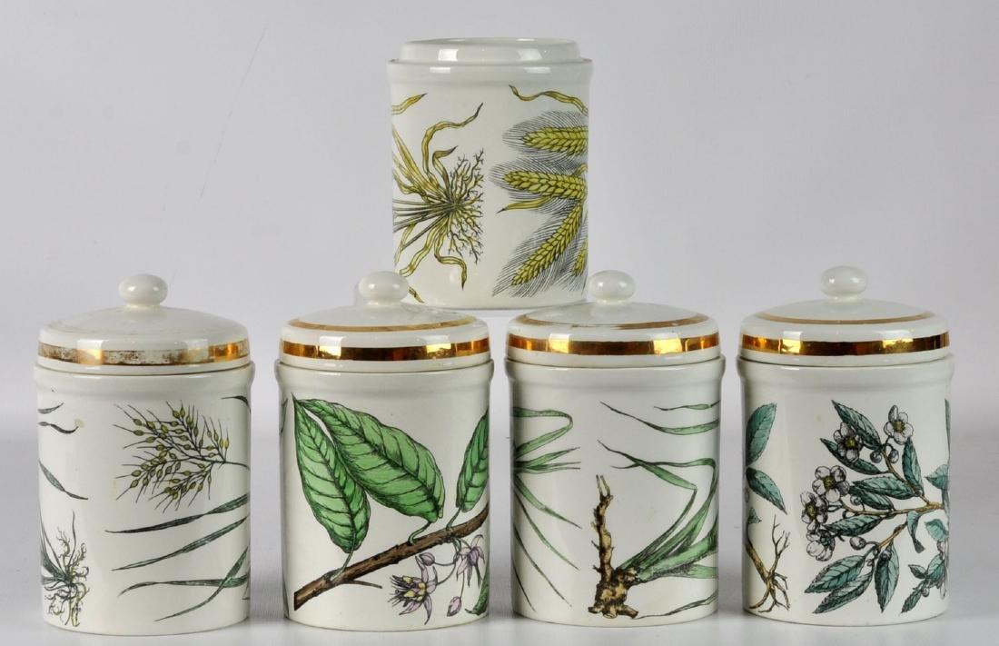 5 Piero Fornasetti Italy Lidded Jars - 2