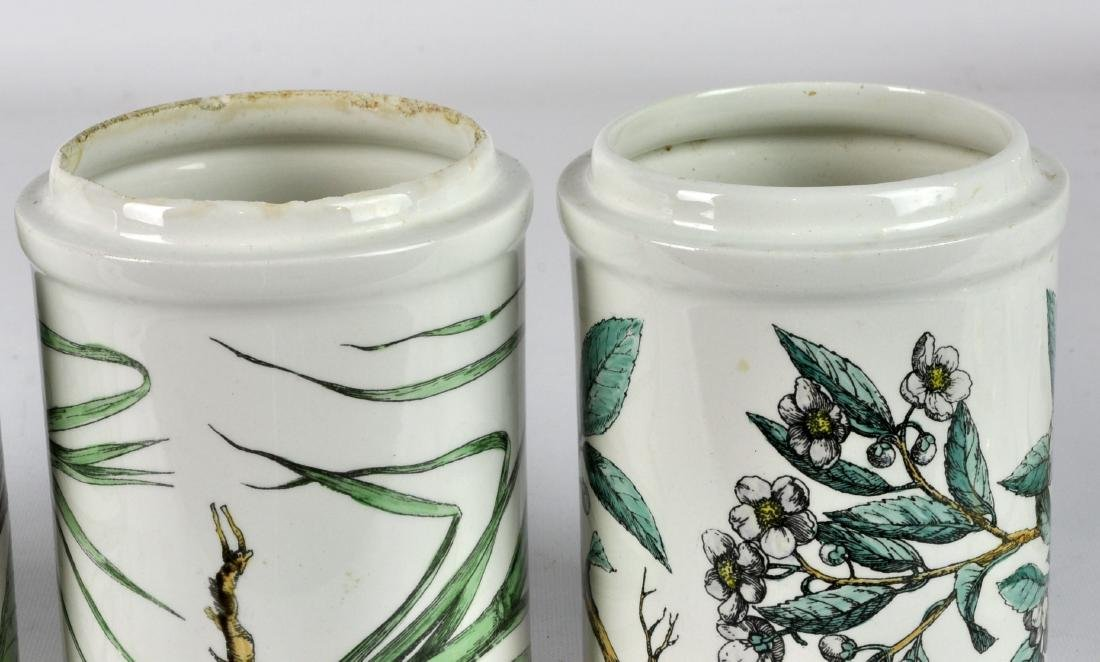 5 Piero Fornasetti Italy Lidded Jars - 3