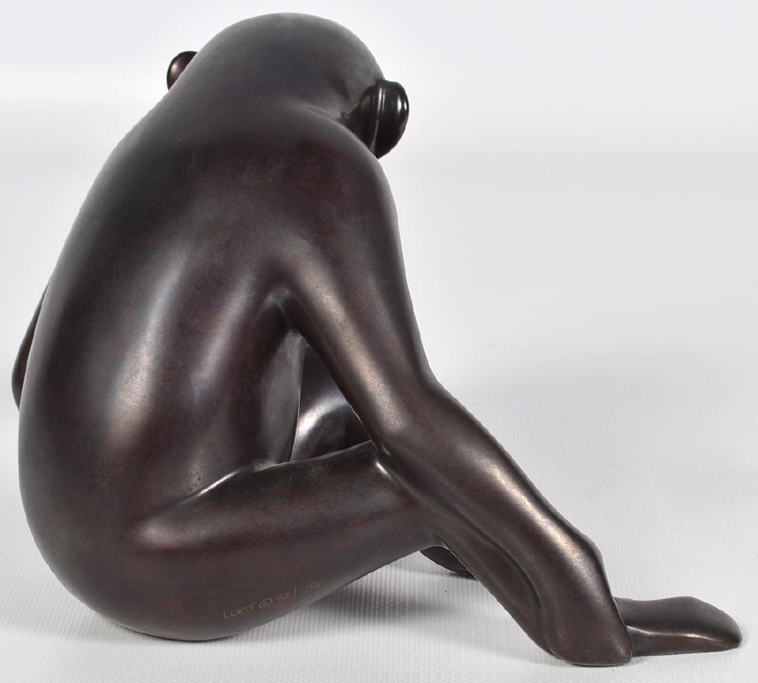 Loet Vanderveen 20th C. Bronze Chimpanzee & Baby - 4