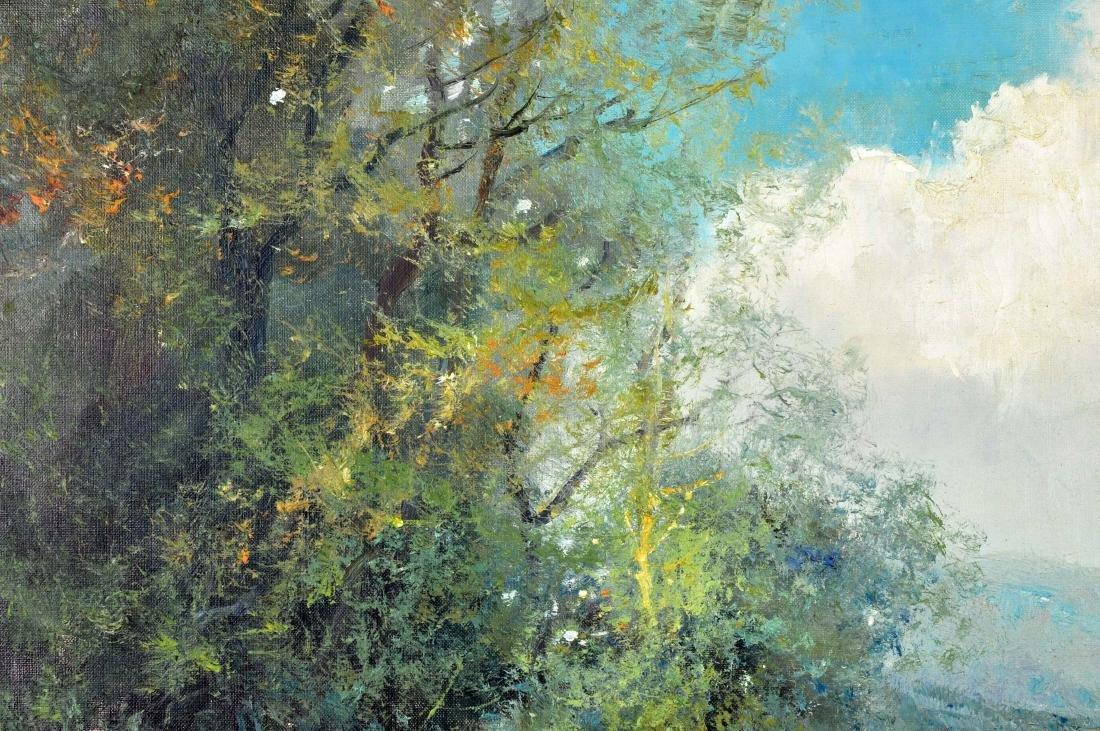"""Willi Bauer """"Coffee Garden"""" Oil Painting - 4"""