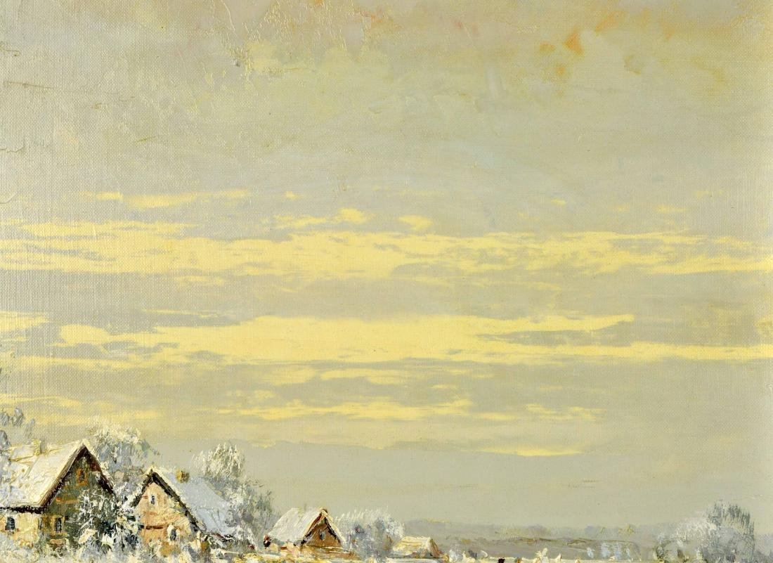 """Willi Bauer """"Snow"""" Oil Painting - 5"""