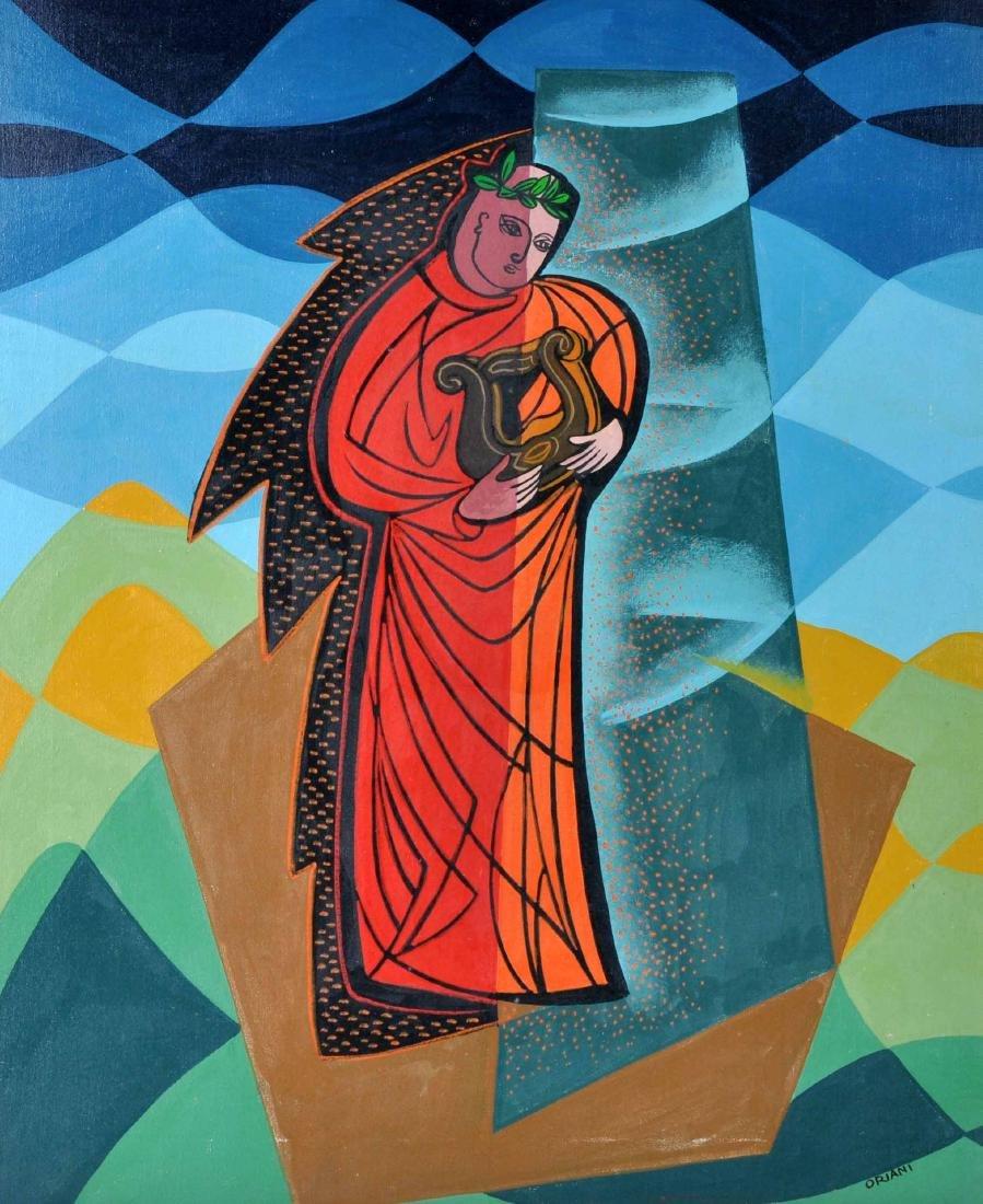 """Pippo Oriani """"Ascending"""" Oil on Canvas"""