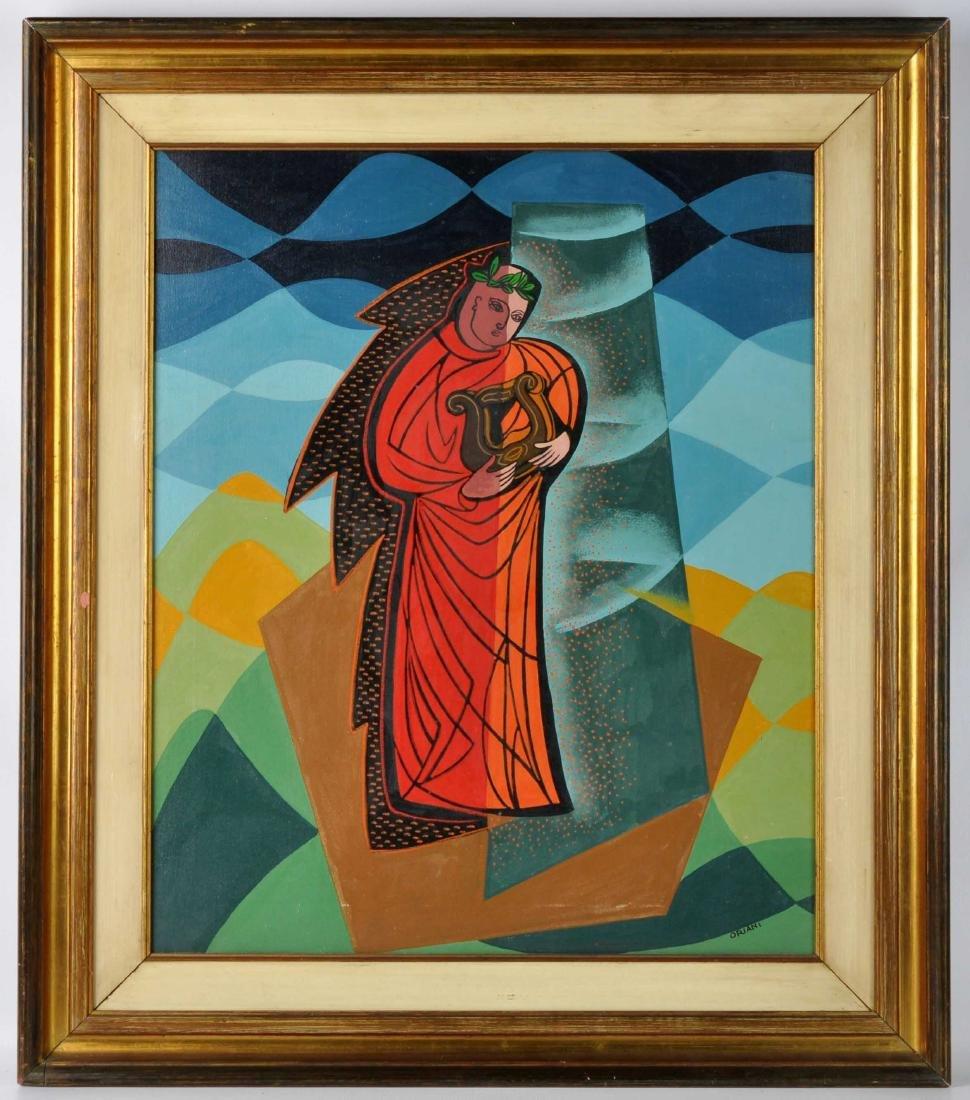"""Pippo Oriani """"Ascending"""" Oil on Canvas - 2"""