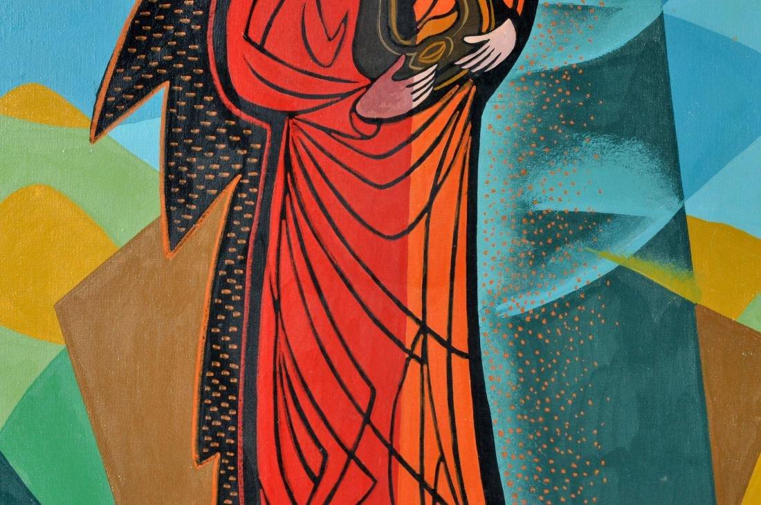 """Pippo Oriani """"Ascending"""" Oil on Canvas - 4"""