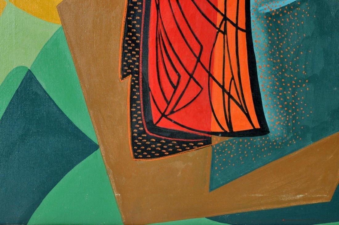 """Pippo Oriani """"Ascending"""" Oil on Canvas - 5"""