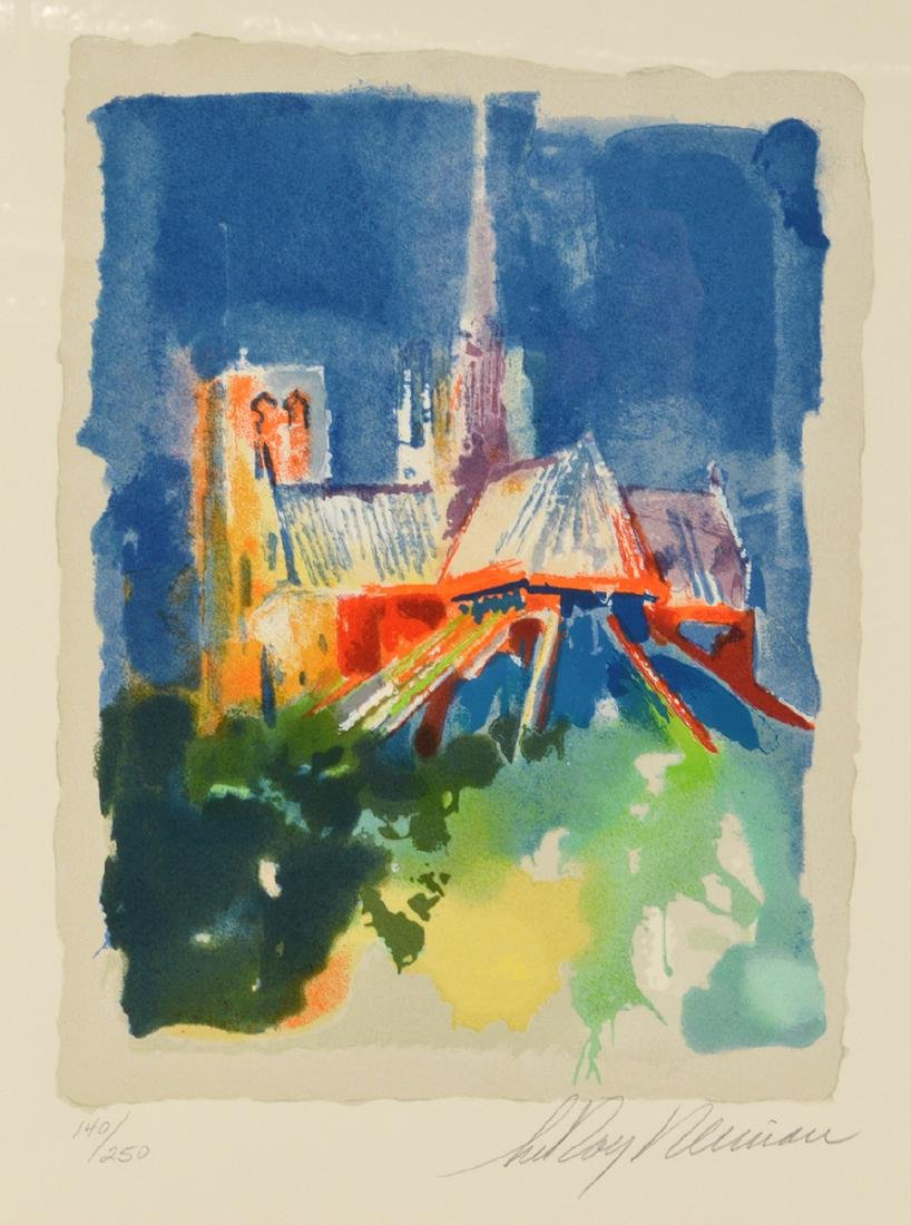 """Leroy Neiman """"Notre Dame"""" Signed Lithograph"""
