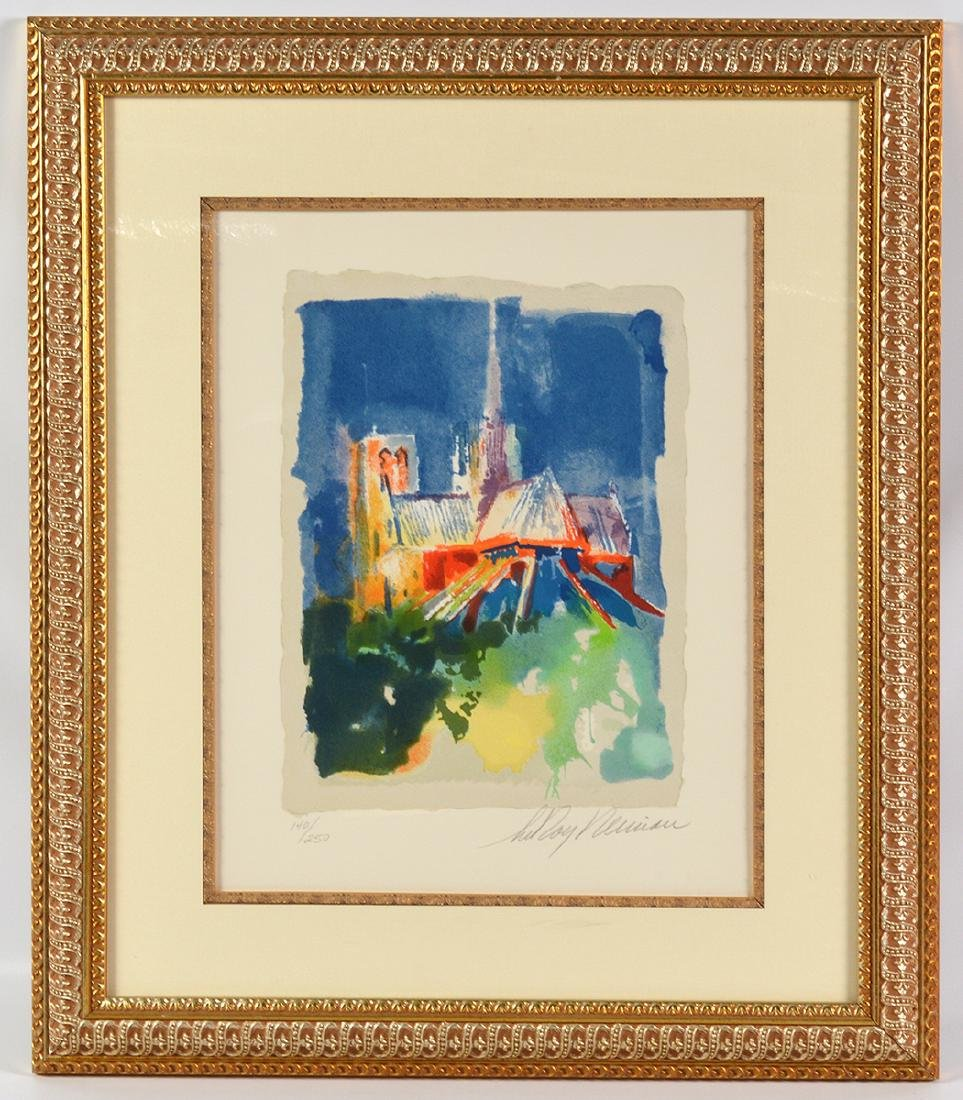 """Leroy Neiman """"Notre Dame"""" Signed Lithograph - 4"""