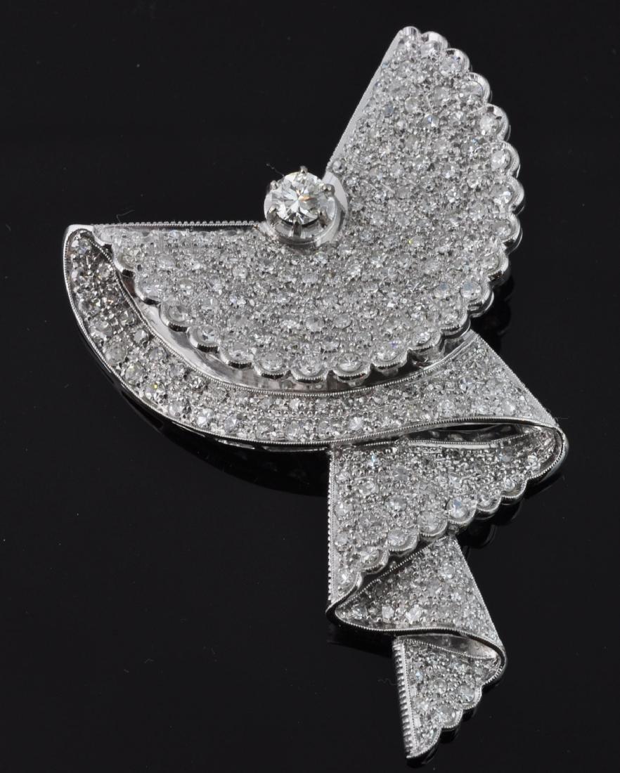 Pave Diamond & Gold Retro Dress Clip