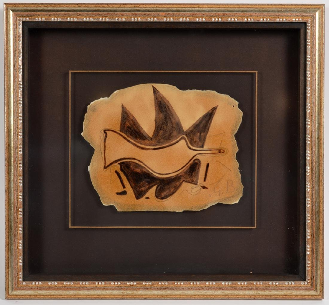 "Georges Braque ""Untitled"" Gouache On Paper"