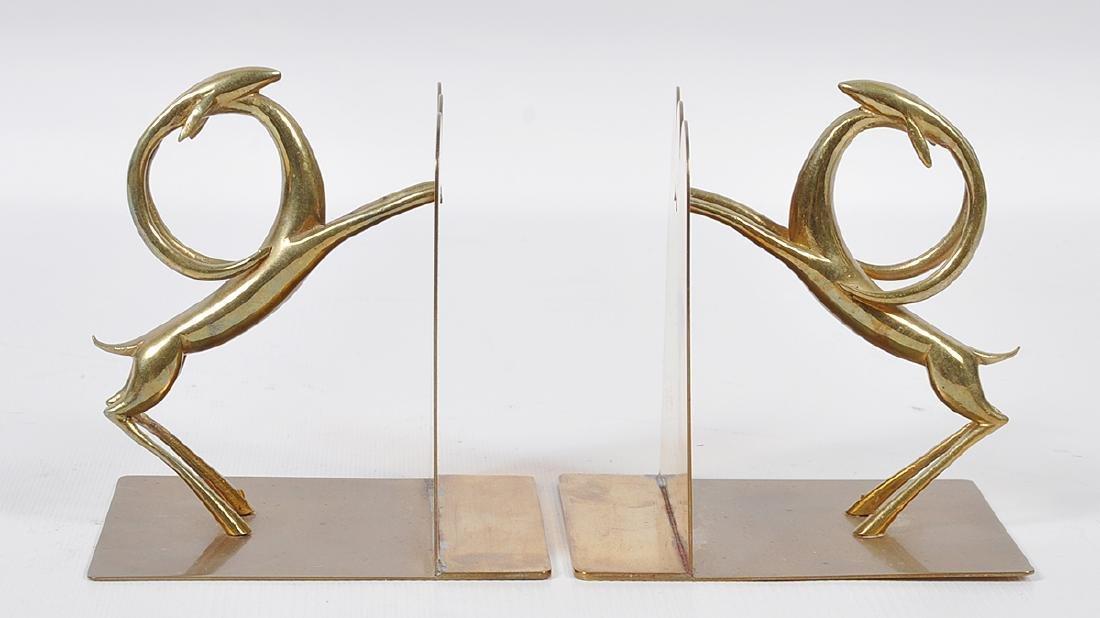 Pr. Bronze Hagenauer Style Deer Bookends