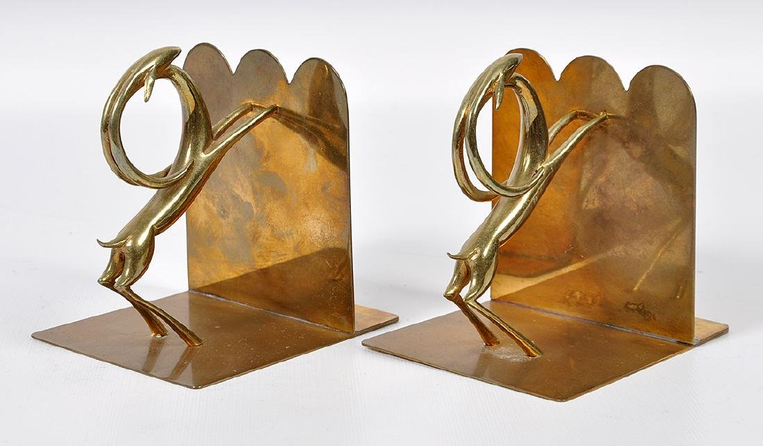 Pr. Bronze Hagenauer Style Deer Bookends - 2