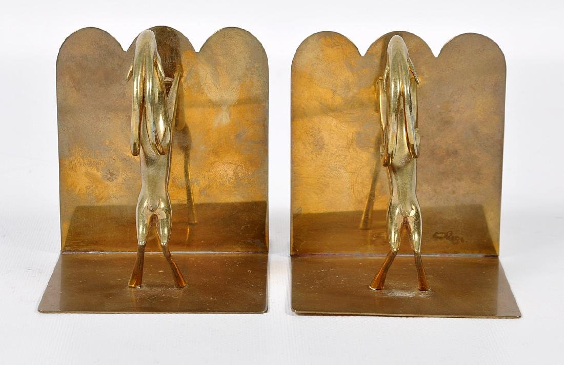 Pr. Bronze Hagenauer Style Deer Bookends - 3
