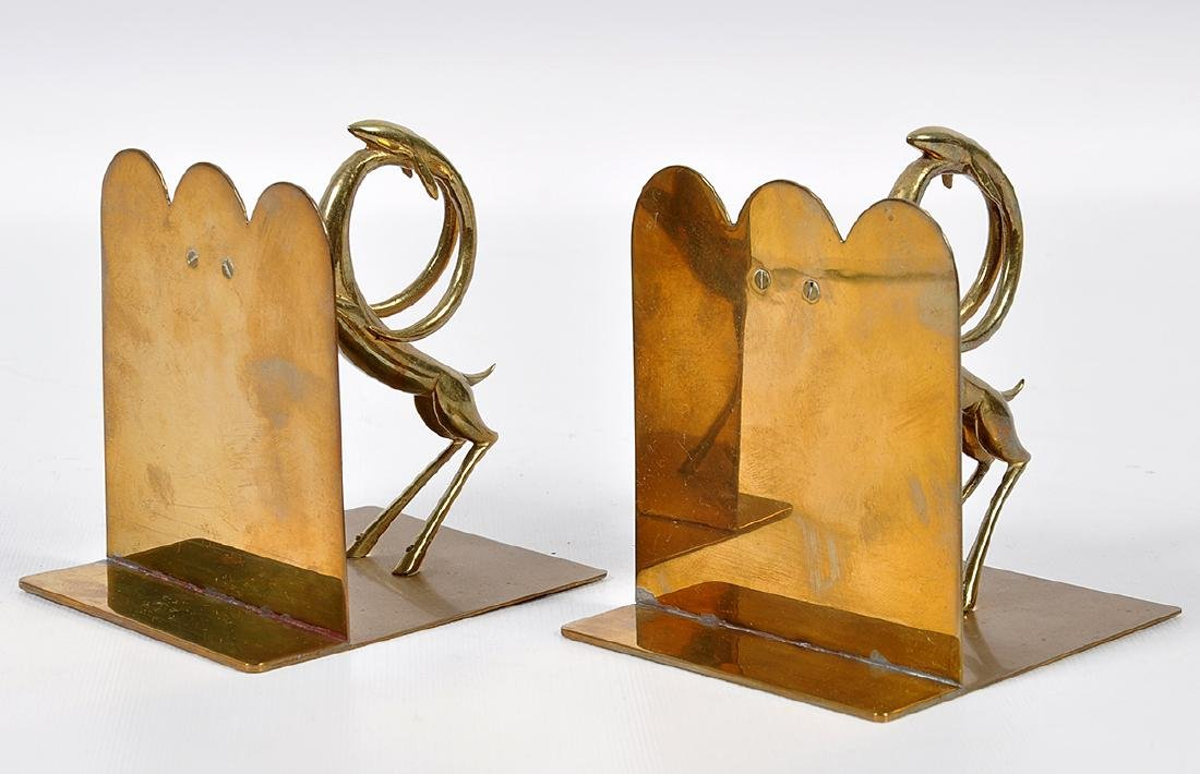 Pr. Bronze Hagenauer Style Deer Bookends - 4