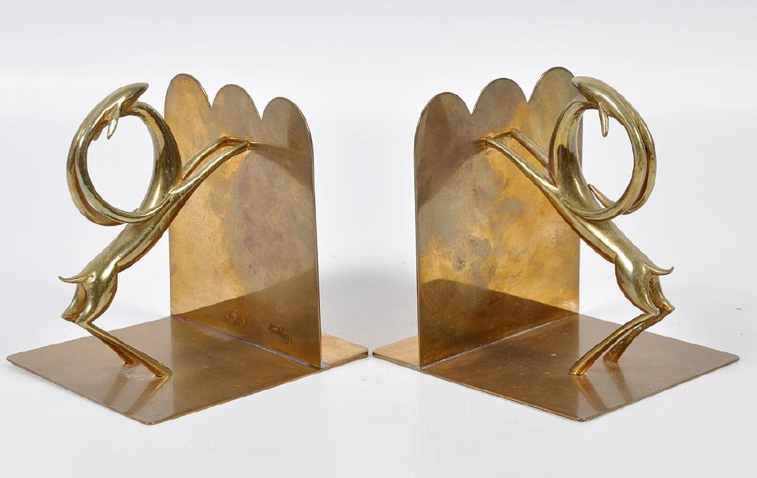 Pr. Bronze Hagenauer Style Deer Bookends - 6