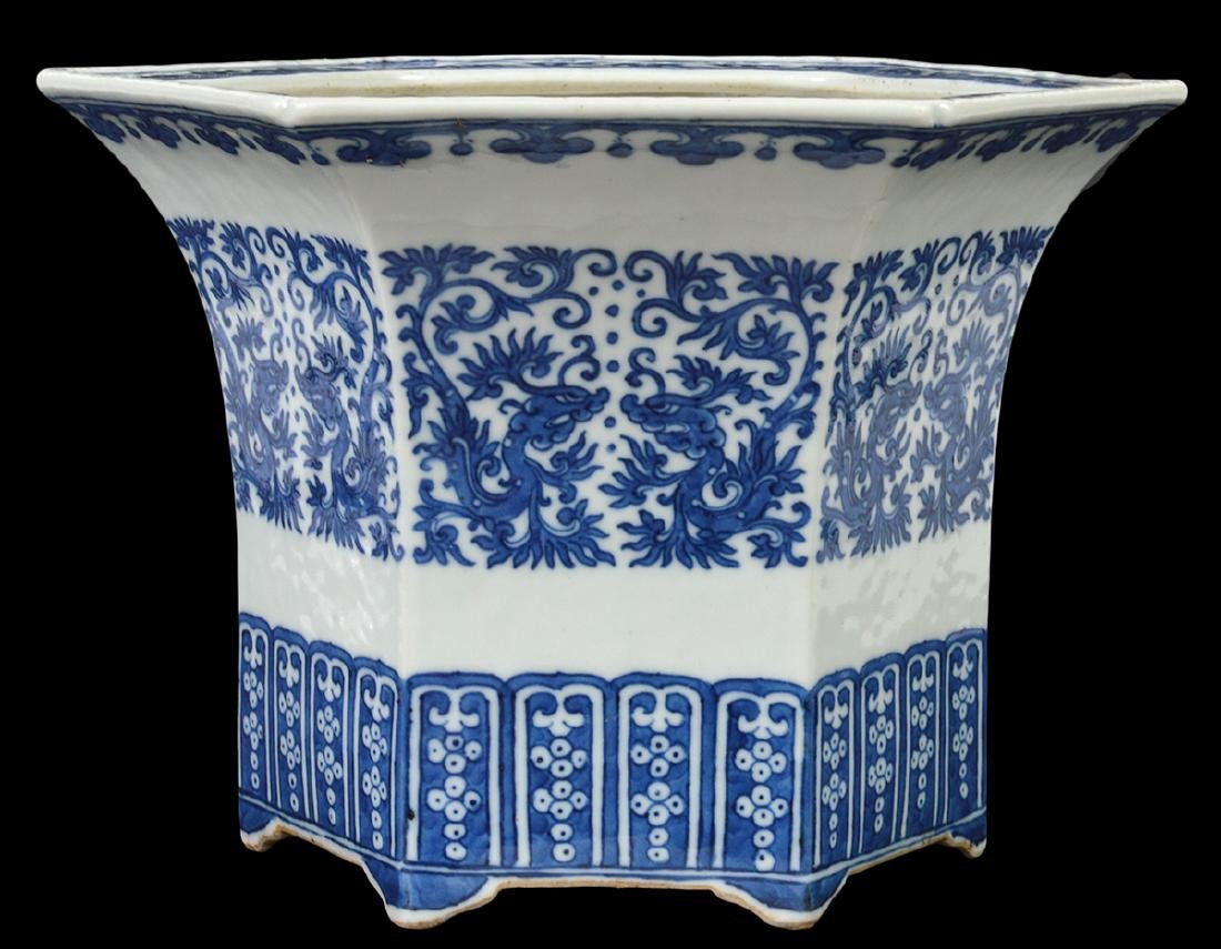 Chinese Antique Blue & White Planter